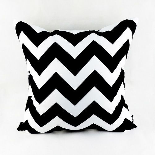 "18""*18""  Decorative Modern Black White Chevron Zig Zag Throw Cushion Cover Pillow Case for Sofa Bedding Couch Home Decor"