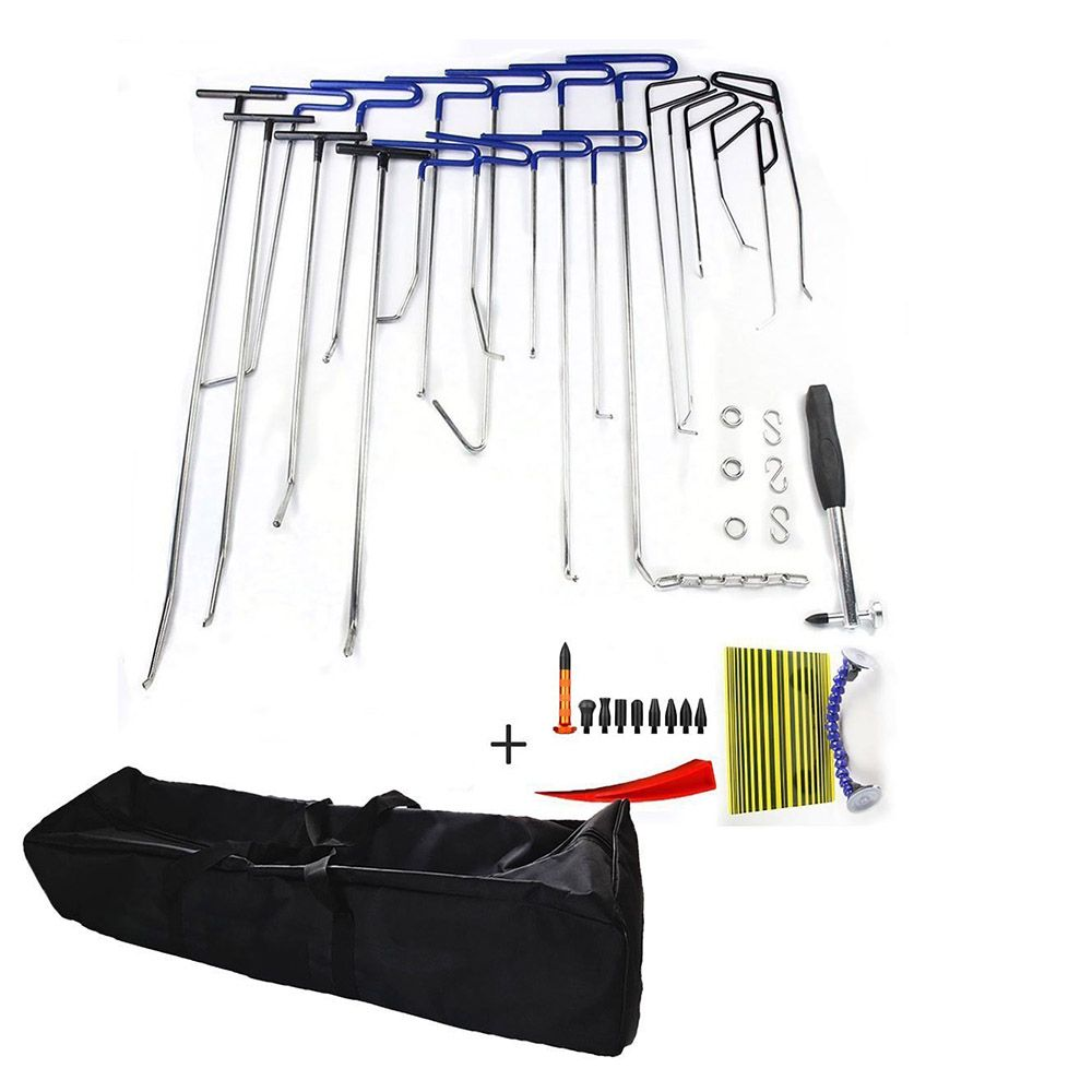 PDR Paintless Dent Repair Tools Dent Removal PDR Rods Furuix PDR Tool Hail Removal Ding Dent Repair Rod Hook Wedge