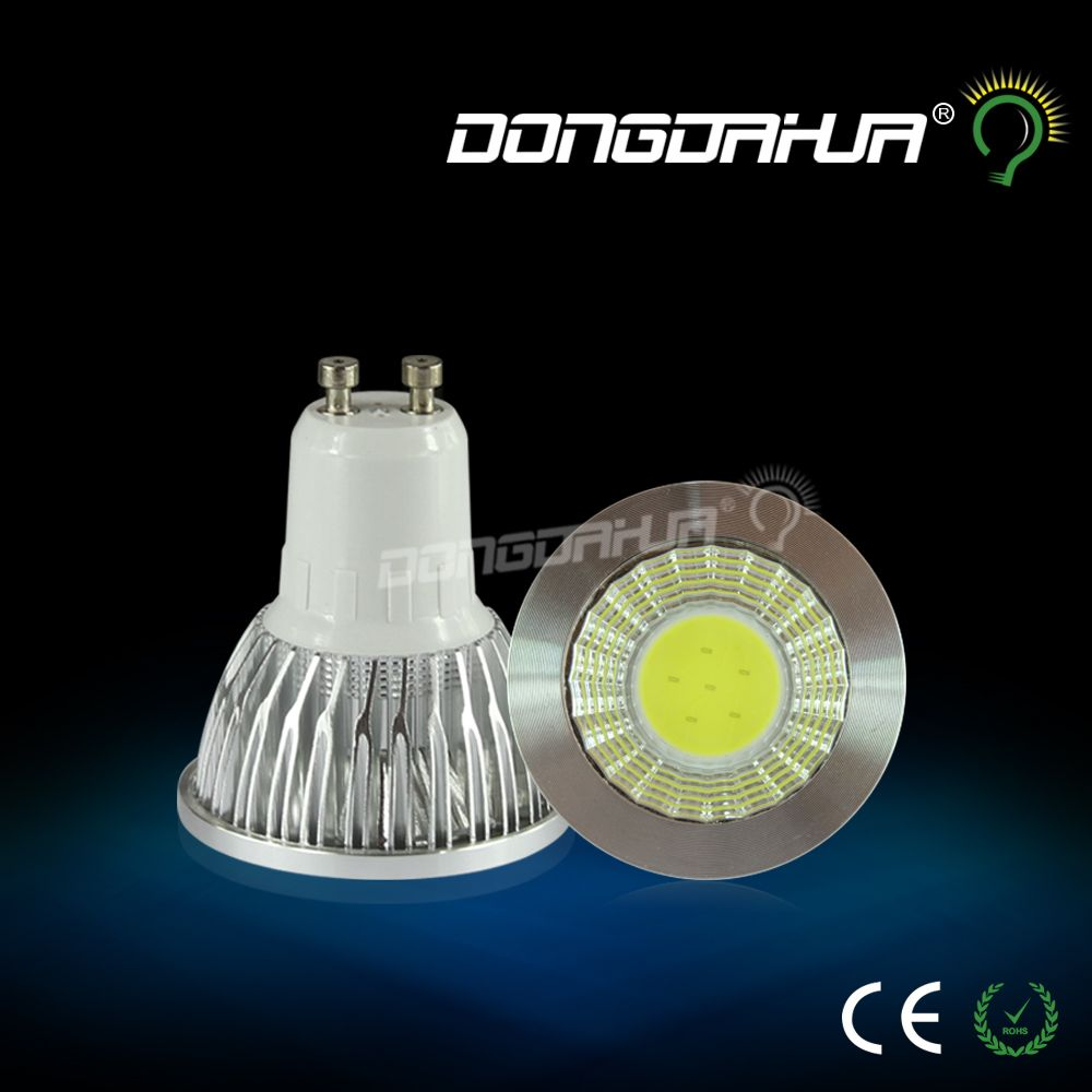 DONGDAHUA UP GU10 MR16 LED COB Spotlight Dimmable 3w 6w Spot Light Bulb high power lamp AC85-265V