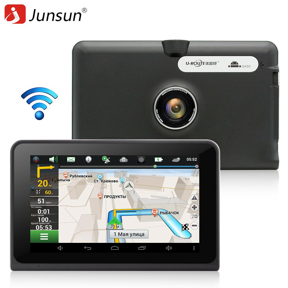 7 inch Car GPS Navigation Android Capacitive Screen 1080 DVR Recorder FM WIFI Truck vehicle gps 16G Navitel 9.5 or Europe map
