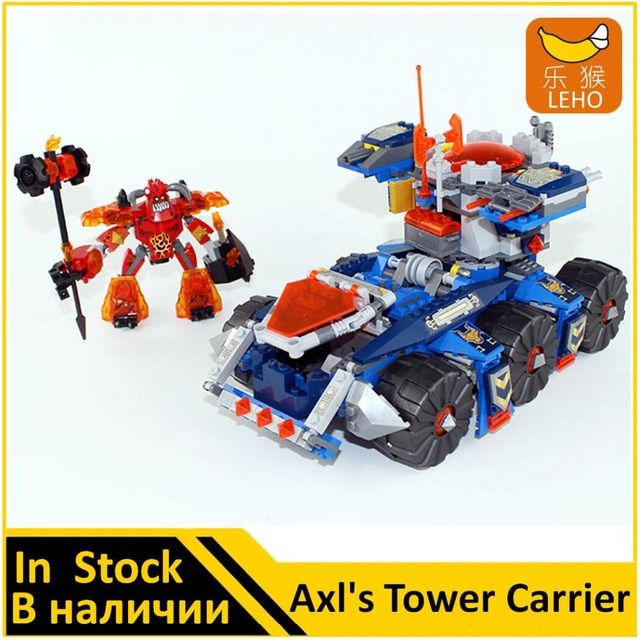 Building Blocks Model 14022 Compatible with NEXOE Knights Figures Axls Tower Carrier 70322 Educational Toys For Children