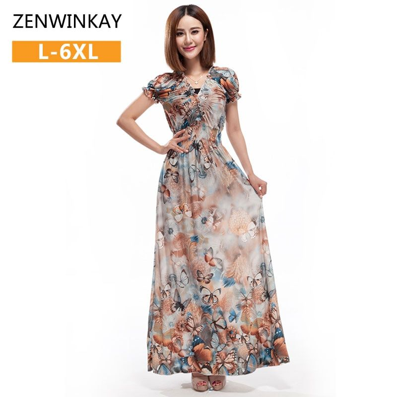 Ladies Boho Clothing Bohemian Hippie Dress Women Long Dresses Floor Length Casual Summer Dresses Maxi Plus Size xxxl 4xl 5xl 6xl