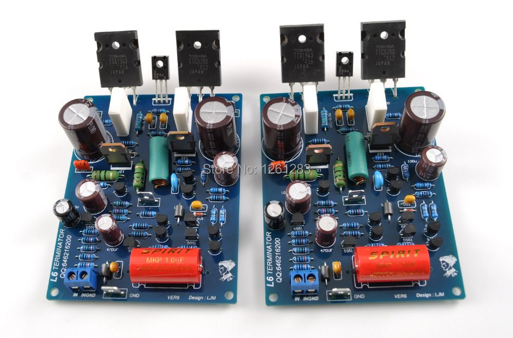 LJM high end amplifier finished board   L6 Audio stero Power Amplifier board   1943 5200 2-CHANNELS