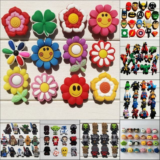 Wholesale Mixed Model 13-14PCS PVC Shoe Charms,Shoe Buckles Accessories Fit Bands Bracelets Croc JIBZ,Kids Party Gifts/Toys