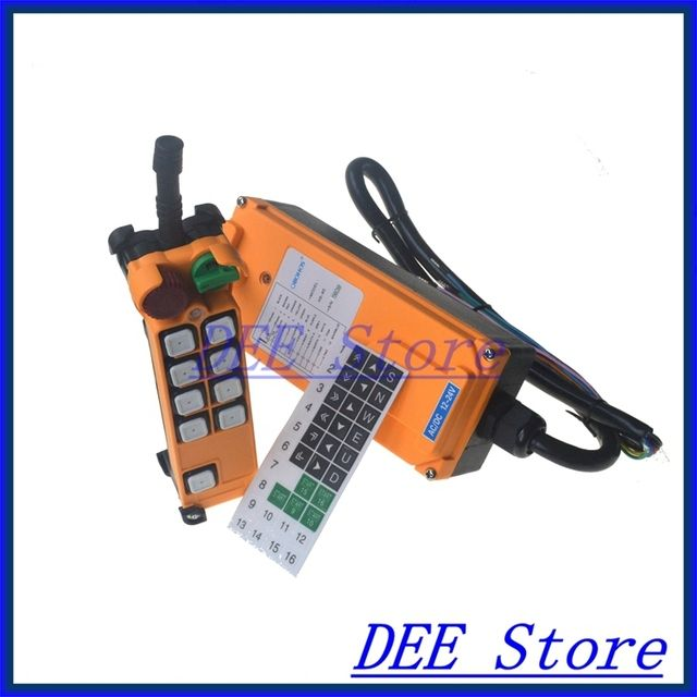 Free Shipping 8 channel 1 Speed Hoist Crane Truck Radio Remote Control System with E-Stop
