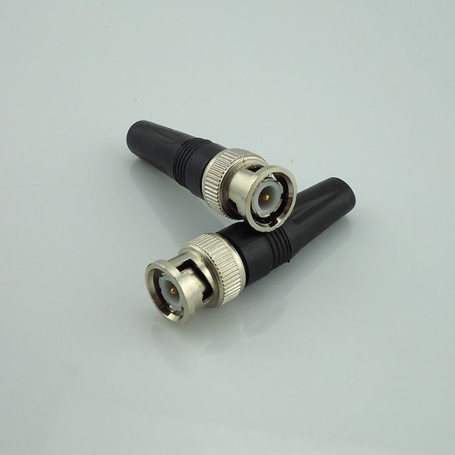 Gakaki 100x Wholesale Bnc Connector Male For Twist-On Coaxial Rg59 Cable Bnc Male Surveillance Security System Cctv Accessories