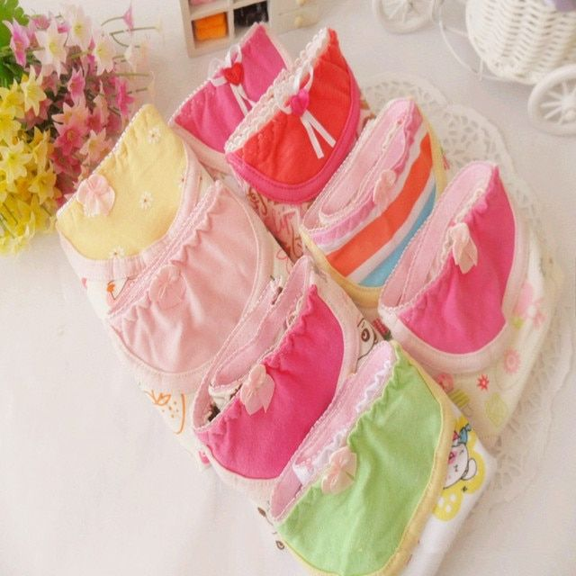 String Sweet Girl's Briefs 7 Pieces High Quality Women's Panties New Fashion Underwear Lovely Princess Underpants Free Shipping