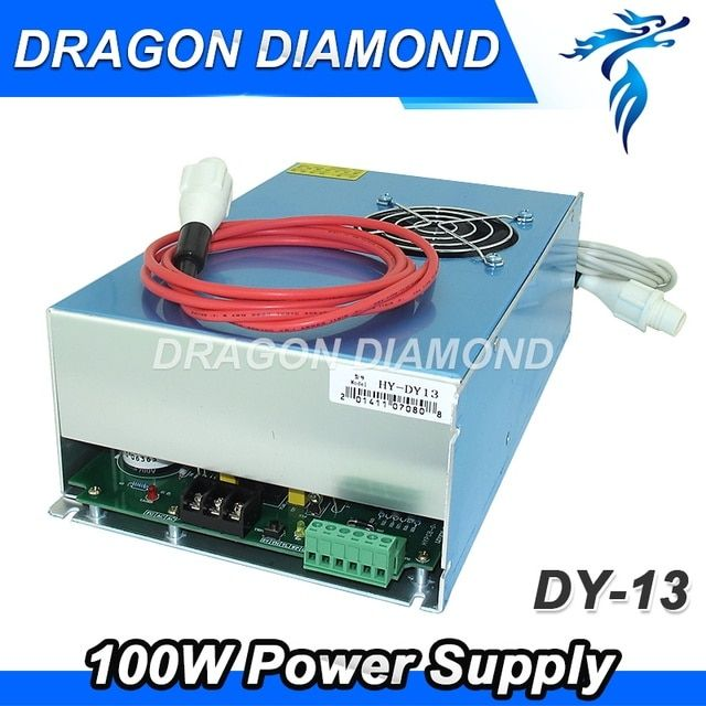 DY13 Reci co2 laser engraving cutter machine laser power supply 100W  for reci W2 co2 laser tube