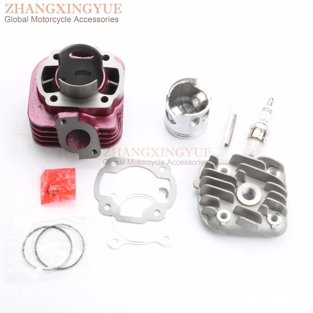 47mm/10mm Two Stroke Big Bore Kit with & E6TC Sparkling Purple for Yamaha JOG 50cc upgrade to 70cc 1E40QMB