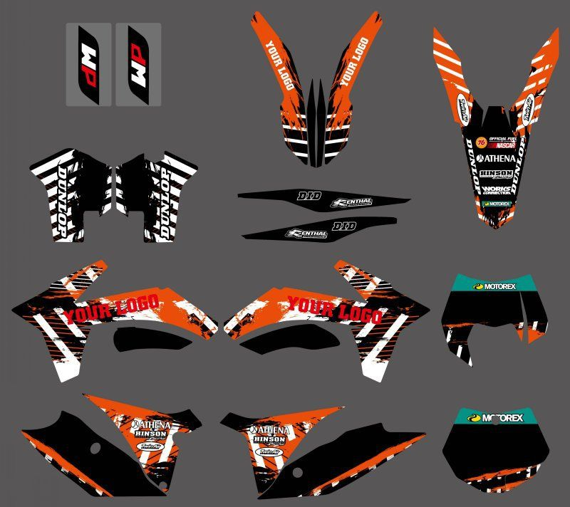 NEW TEAM DECALS STICKERS GRAPHICS FIT FOR KTM 125 150 200 250 350 450 500 SX SXF XC XCF XCW XCFW EXC 2011-2013