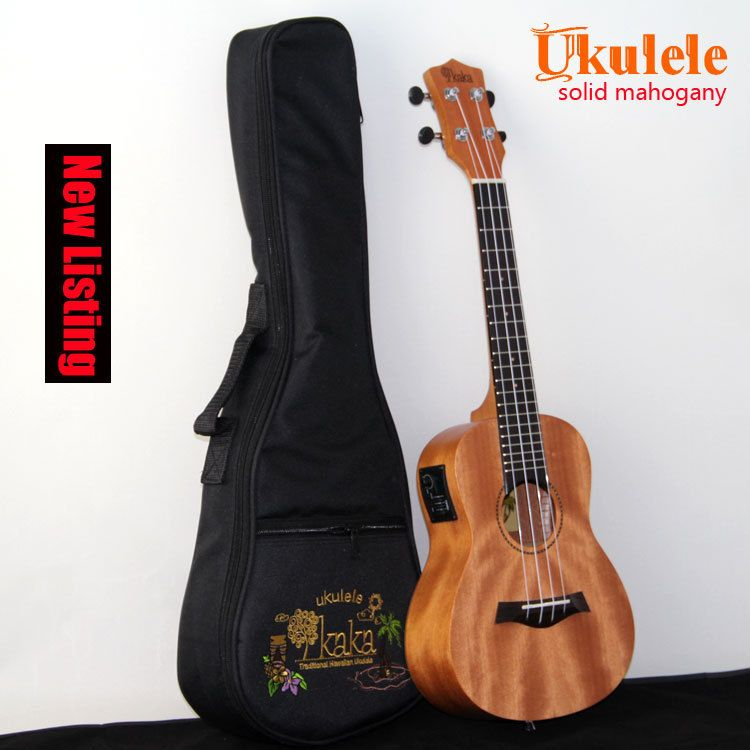 "High quality mahogany  Electric ukulele KAKA Solid Wood  Ukulele solid mahogany With Aquila Strings 23"" free shipping"