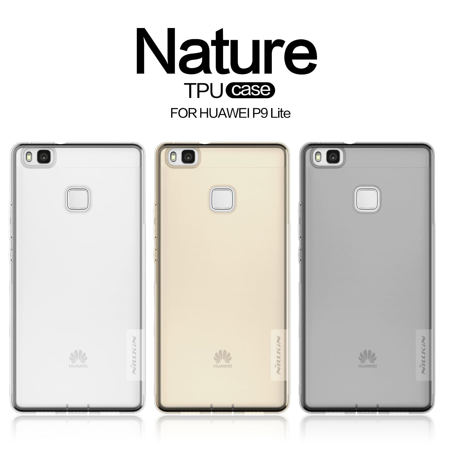 For Huawei P9 Lite/G9 Lite Transparent TPU Case NILLKIN Nature Soft Silicone Back Cover Skin For VNS-L21 VNS-L22 VNS-L23 Cases