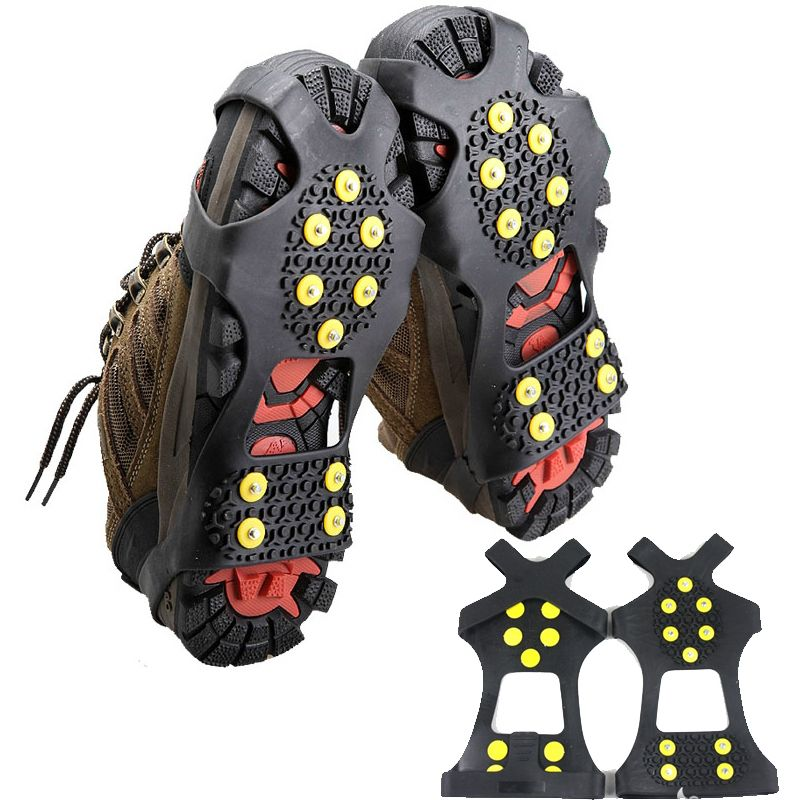 Lumiparty Ice Snow Camping Walking Shoes Spike Grip Climbing Ice Crampon Anti-slip Overshoes Spike Grip Winter Outdoor Equipment