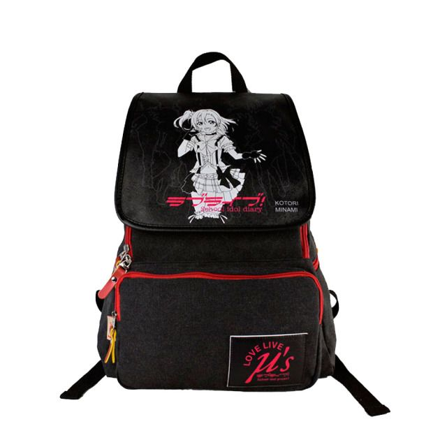 Animation around the bag Lovelive new canvas with PU Leather Backpack