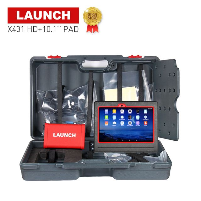 "LAUNCH X431 HD Heavy Duty Truck 10.1"" Android ScanPad multimeters analyzers car scanner diagnostics tool for repairing cars"
