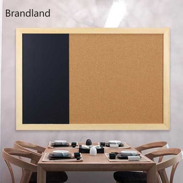 Combination of soft wood whiteboard blackboard message board bulletin board pushpin photo wall