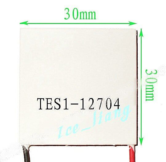 2PCS/LOT TEC1-12704  12V4A 30*30 12704 TEC 2PCS Thermoelectric Cooler Peltier  New of semiconductor refrigeration  FREE shipping
