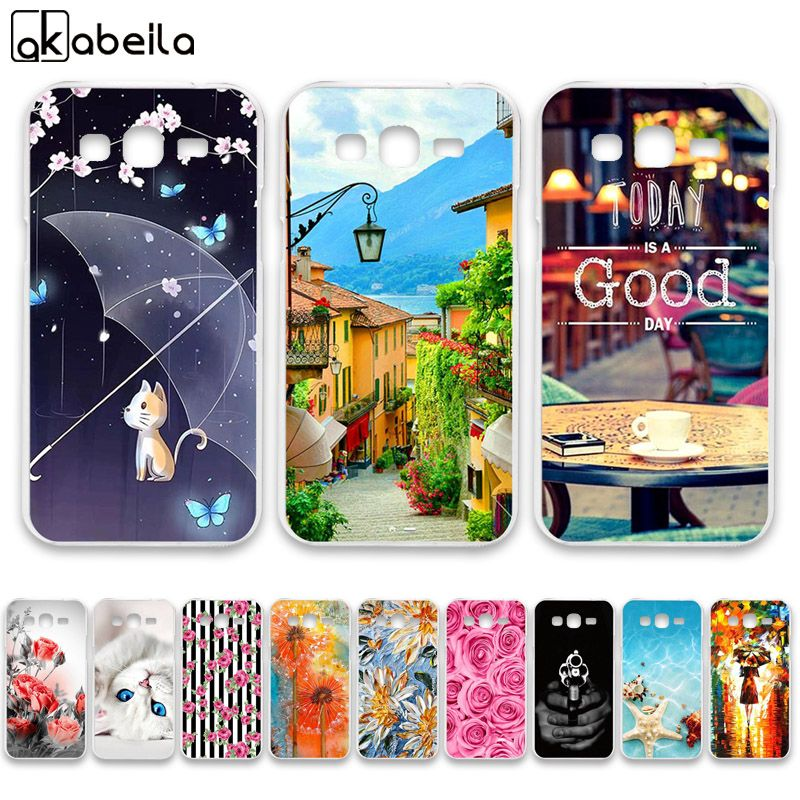 AKABEILA Soft TPU  Phone Cases For Samsung Galaxy Grand 2 G7102 G7105 G7106 G7108 G7109 G7100 G71S SM-G7102 Covers Bags