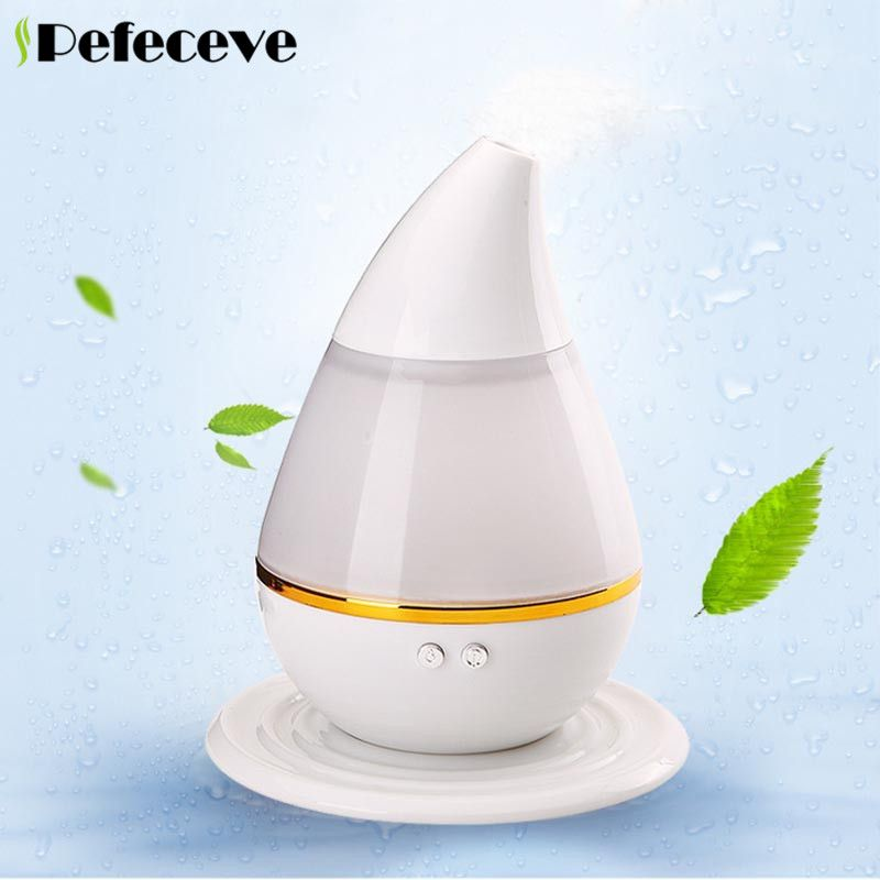 Pefeceve USB Water Drop Humidifier Essential oil diffuser with Air Aromatherapy For Home Office Aroma diffuser Atomizer Steamer