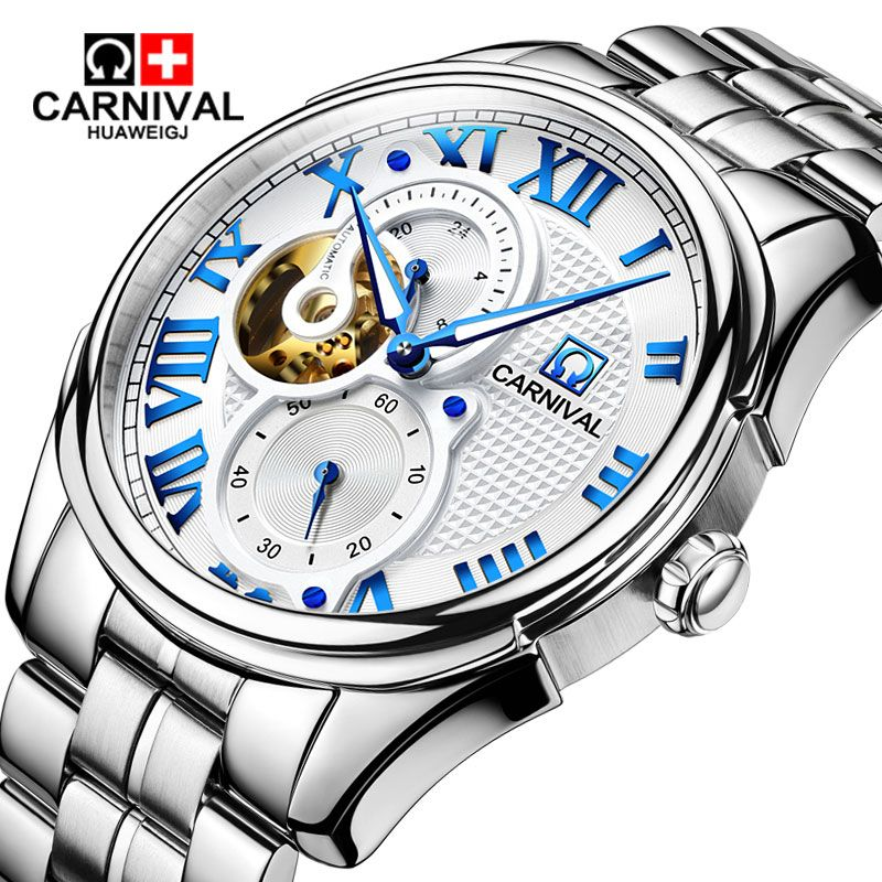 Carnival watches automatic mechanical watch 24-hour flywheel Watch casual style luminous waterproof men's watches