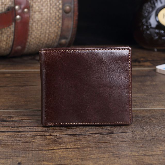 Genuine Leather Fashion Men Short Section Holding Wallet England Style Coin Purse
