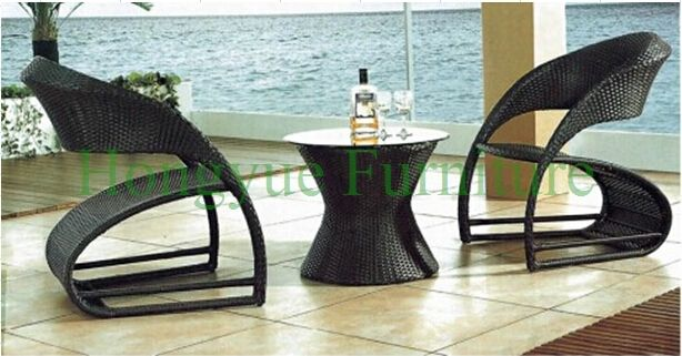 Garden rattan bistro table set furniture designs