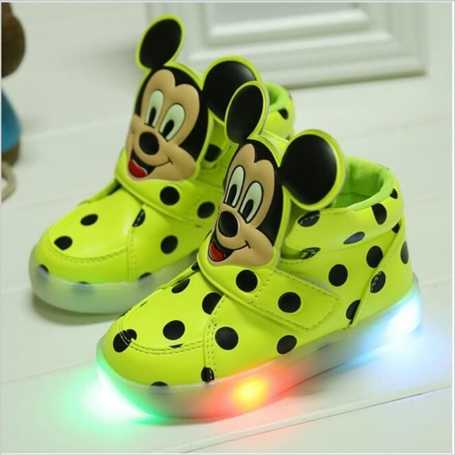 size 21-26 LED lighting children shoes hot sales Lovely kids flashing luminous sneakers kids boys shoes cool boy girls boots
