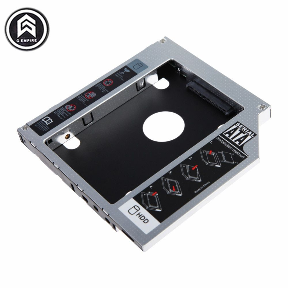 "Universal 9.5mm Aluminum HDD Caddy SATA 3.0 for 2.5"" SSD Case HDD Enclosure for Notebook CD-ROM hard drive bracket"