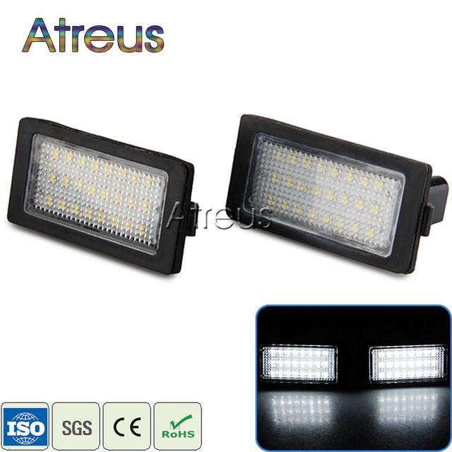 Atreus Car LED License Plate Lights 12V For BMW 7 Series E38 740i 750i Accessories White SMD3528 LED Number Plate Lamp Bulb Kit