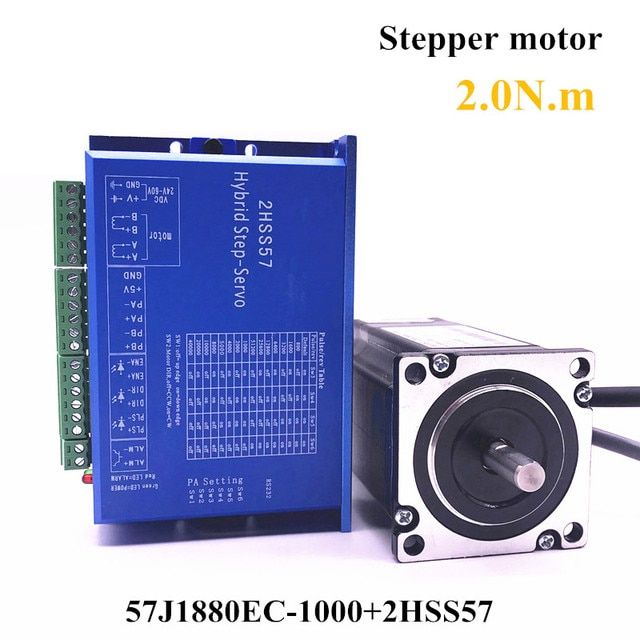 57J1880EC-1000+2HSS57 57 Closed-loop Nema23 step motor 2.0N.m Nema 23 Hybird closed loop 2-phase stepper motor driver