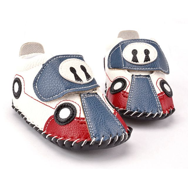 PU Leather Newborn Baby Boy Shoes Cartoon Car Soft Soles Non-slip Baby First Walkers Cute Spring Autumn Infant Baby Sneakers