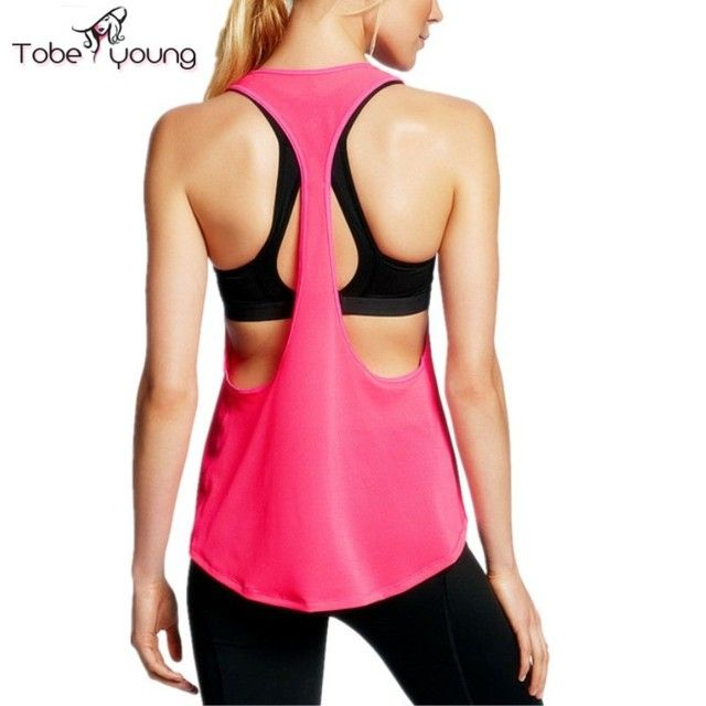 2017 New Women's Sexy Open Side Quick Dry Loose Fitness Tank Top Active Vest Summer Blusa Backless Tees Shirt femme