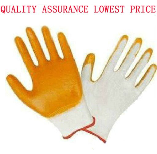 free shipping Flat nylon pvc gloves cow muscle gloves wear-resistant work gloves hanging rubber gloves