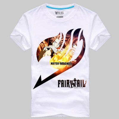 Fashion Japan anime T Shirt Men Fairy Tail Shirt Round Neck Casual Fairy Tail T-Shirt Plus size Tops tees