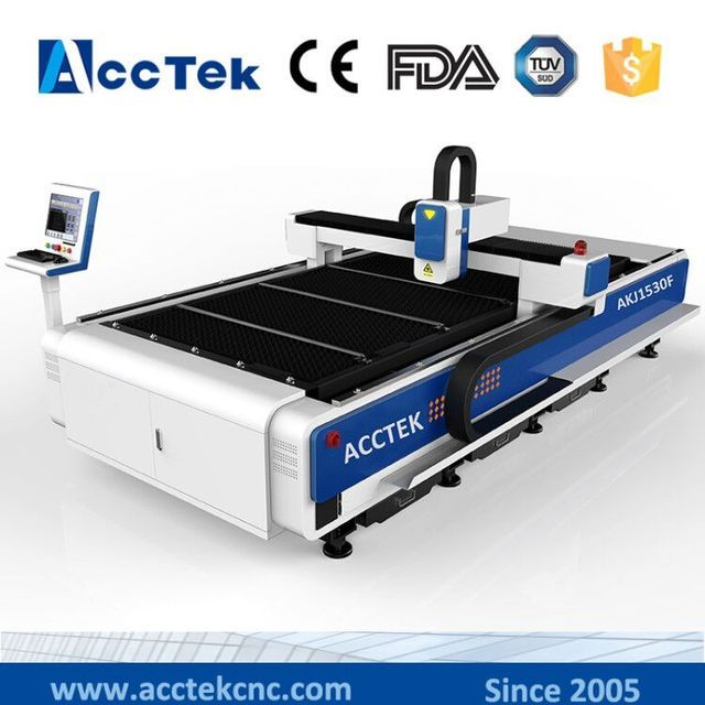 Aluminum fiber laser cutting machine for metal sheet, metal tube cutting from Jinan AccTek 1500*3000mm