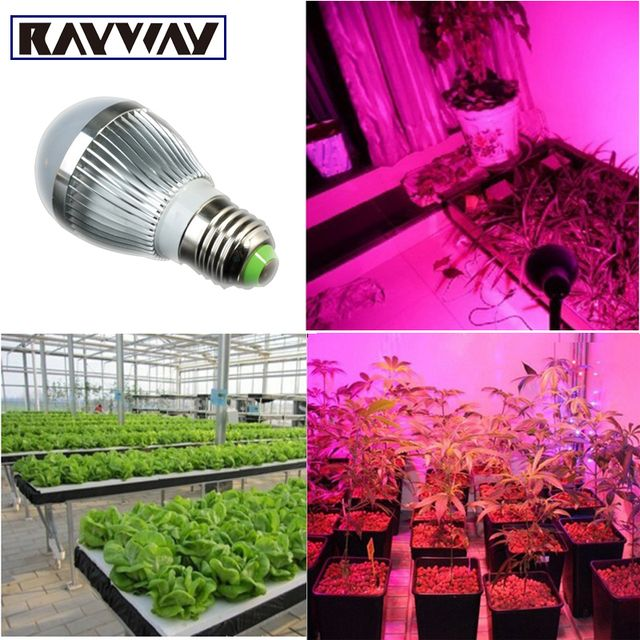 New Full spectrum LED Grow lights 14W E27 / E14 LED Grow lamp bulb for Flower plant Hydroponics system AC 85V -265V grow light