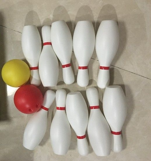 Large size white color  bowling bottle ball children toy sports outdoor