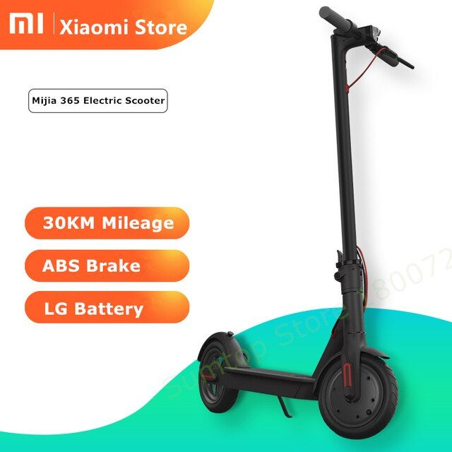 New Original Smart Xiaomi Mijia M365 Electric Scooter foldable lightweight long board hoverboard skateboard with steering-wheel