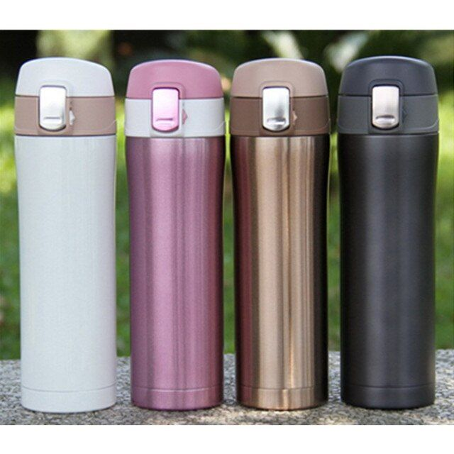 Promotion! Home Kitchen Vacuum Flasks Thermoses 420ml Stainless Steel Insulated Thermos Cup Coffee Mug Travel Drink Bottle
