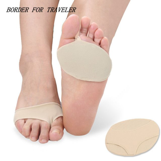 Lycra Silicone Forefoot Insoles Relief Forefoot Painful Arch Support Prevent Foot Cocoon Damping Massage For Women High Shoes
