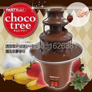 Free shipping HOT SALES Mini Chocolate Fountain Household 3-Tier Chocolate Fondue Machine Choco Tree EU Standard  Plug
