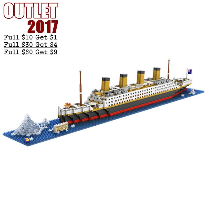 Super Large RMS Titanic Liner Ship Models & Building Toy Plastic Assembly Boat Mini Bricks Hobby Toys