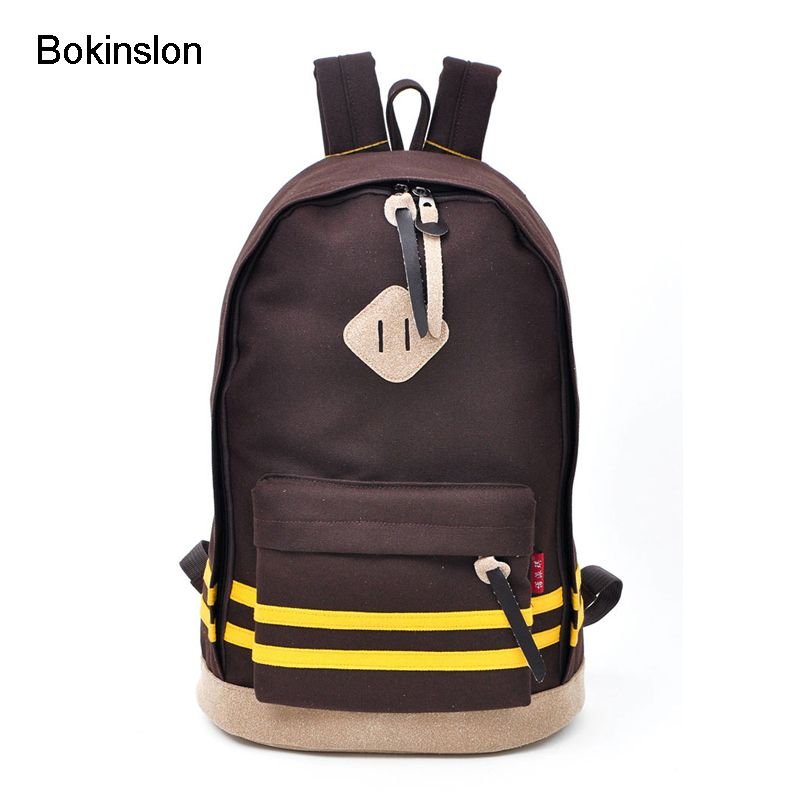 Bokinslon Woman Backpack Fashion Women School Bag Casual Girl School Backpacks Simple Canvas Backpacks Bags For Girl Boy