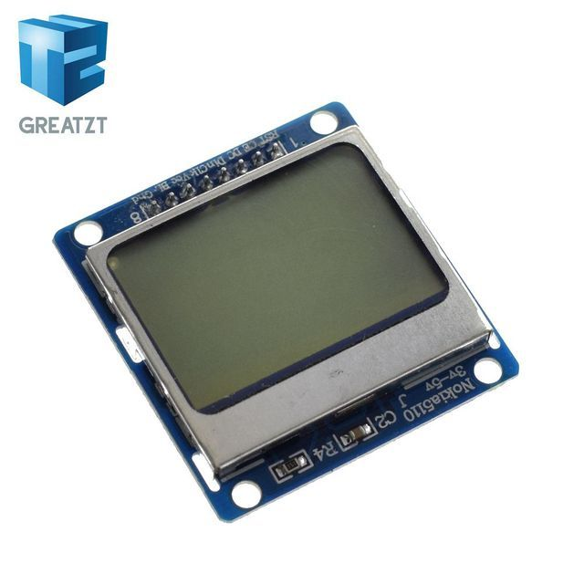 Smart  Electronics LCD Module Display Monitor Blue backlight adapter PCB 84*48 84x84 lcd 5110 Nokia 5110 Screen for Arduino