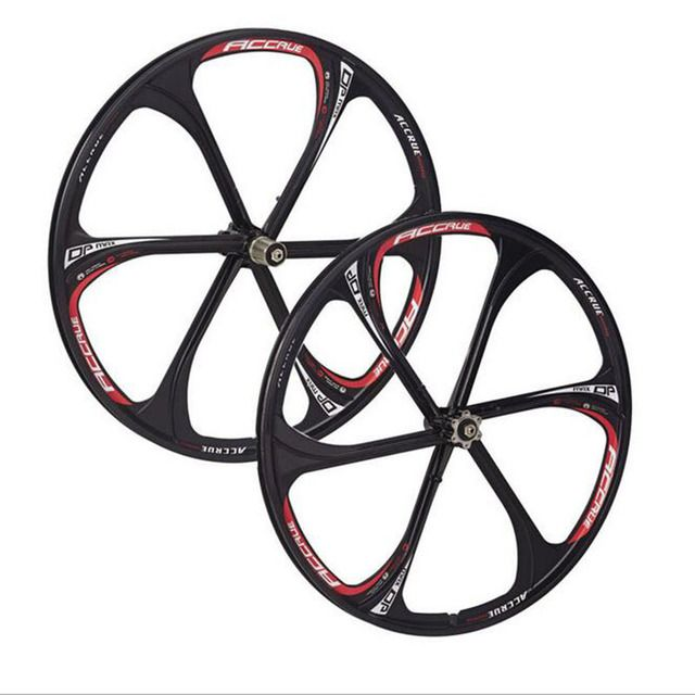 "wheels 26"" inches Mountain Bicycle Wheel bike rims,MTB Rim 6 spokes mountain bike wheels magnesium alloy 26 speeds"