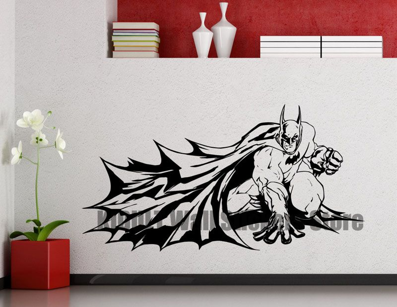The Dark Knight Batman Wall Stickers Vinyl Stickers Marvel Comics Superhero Home Interior Children'S Room Decorative Murals