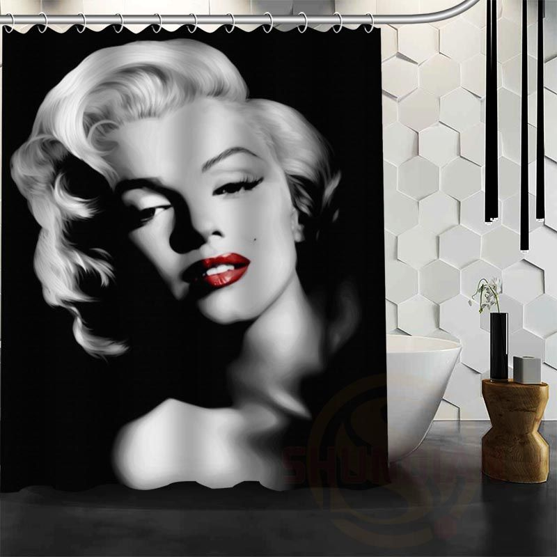 "Marilyn Monroe Waterproof Fabric Shower Curtain Bath Curtain 60"" x 72"" - Bathroom Decor"