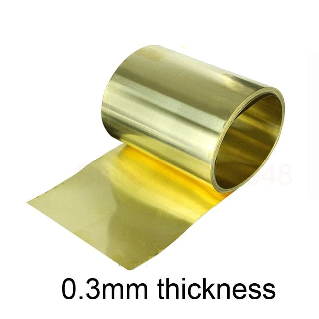 new Thin latten flitter gold brass sheet Yellow copper foil Brass plate 0.3mm thickness 200mm width brass strip