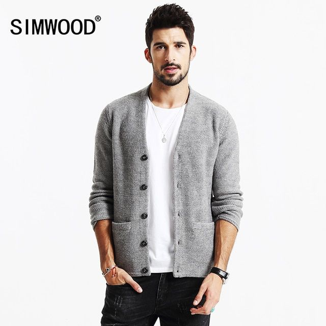 SIMWOOD New Autumn Winter Cardigan Men fashion sweater casual  knitted  wear  brand clothing MY2070