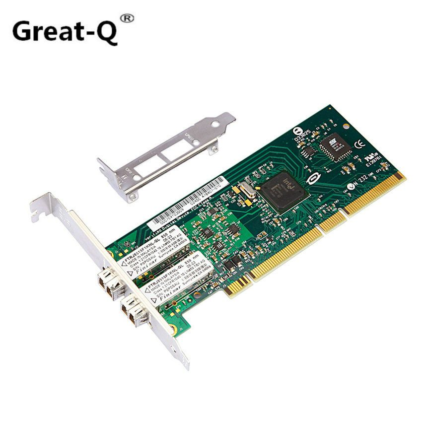 Great-Q  PCI server lan card for Intel 82546GB/GB PWLA8492MF double-Port  Multi-mode  fiber 1000 Mbps network card